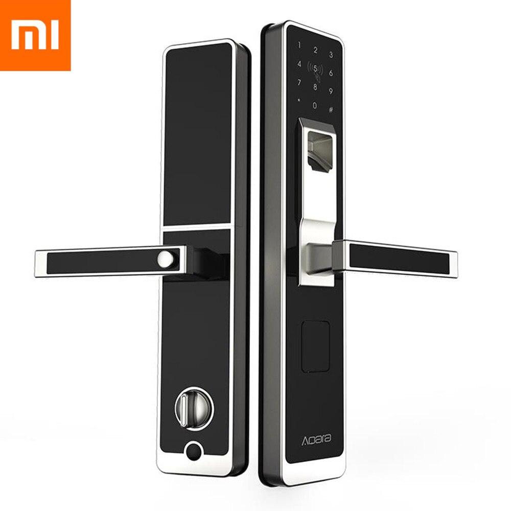 Xiaomi Aqara Smart Porte Tactile Verrouillage ZigBee Sans Fil Connecter Empreintes Digitales Déverrouiller Anti-espion Maison Intelligente Serrure pour La Maison de Sécurité