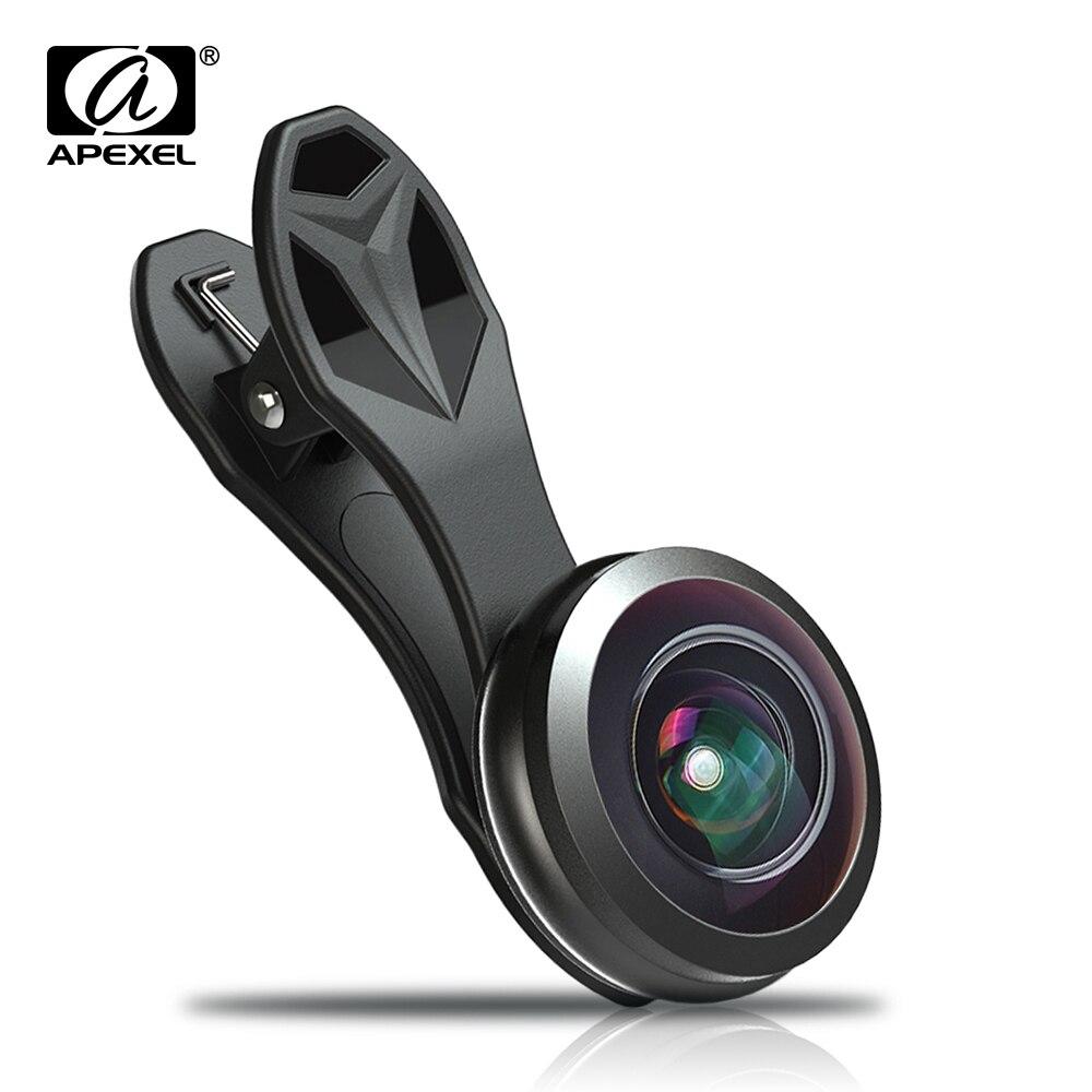 imágenes para APEXEL 238 grados lente ojo de pez kit 0.2X fotograma completo super gran angular de lente de la cámara kit para el iphone 6 s 7 teléfono inteligente Xiaomi 238F