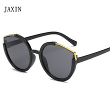 JAXIN Fashion Cat Eye Sunglasses Women personality plating color gorgeous Sun Glasses Lady brand design UV400 gafas de sol mujer