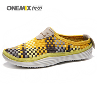 Onemix 2016 Men S Breathable Weaving Walking Shoes Summer Outdoor Candy Color Lazy Loafers Tenis Water