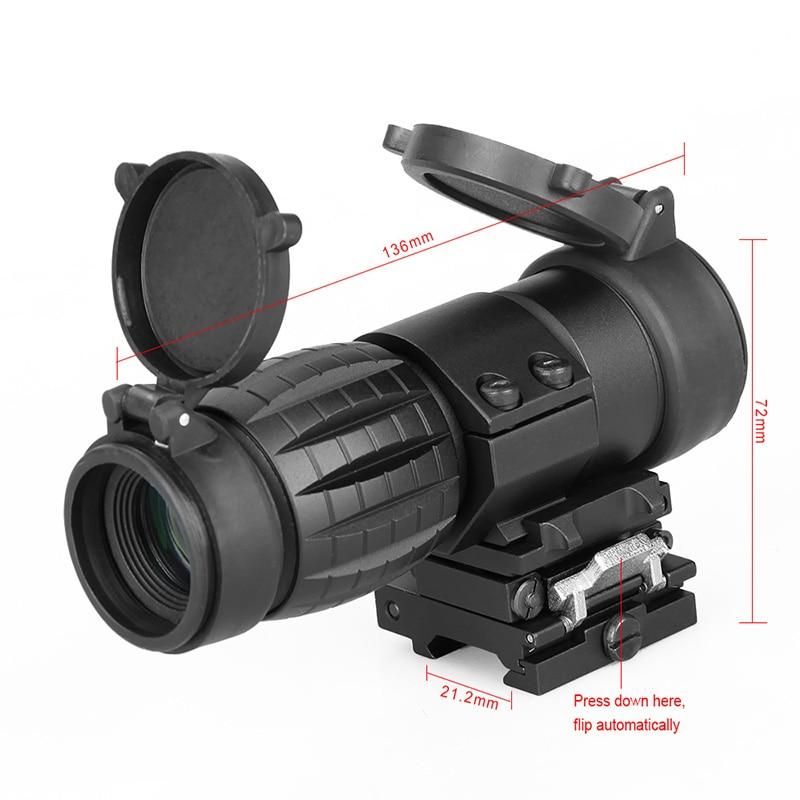 Visor óptico WIPSON Alcance de la lupa 3X Foco de caza compacto - Caza - foto 5