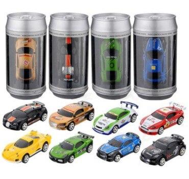 16 colores ventas calientes 20 km/h Coca-Cola puede Mini RC Radio Control remoto Micro Car Racing 2 frecuencias juguete para los niños nave rápida