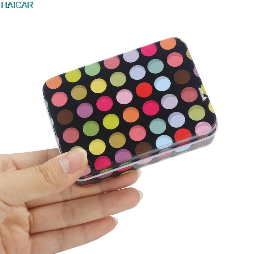 Small Storage Box Coloful Dots Jars Rectangular Iron Tin Gift Jewelry Box Holder Home Decoration Support Dropship feb22