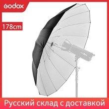 """GODOX Studio – parapluie lumineux réfléchissant, 70 """"/178cm, blanc, noir"""
