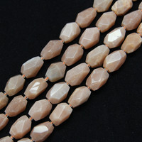 15.5 inches strand Facet Nugget Roze Maanstenen Losse Bedels Armband, Cut Stenen Spacer Kralen voor Ketting Sieraden Bulk