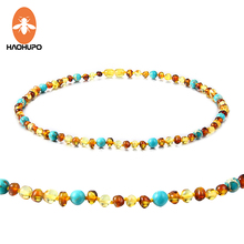 все цены на EAST WORLD Amber Bracelet/Necklace with Natural Turquoise Women Jewelry Unique Choker Handmade Design Jewelry Gift Female Collar онлайн