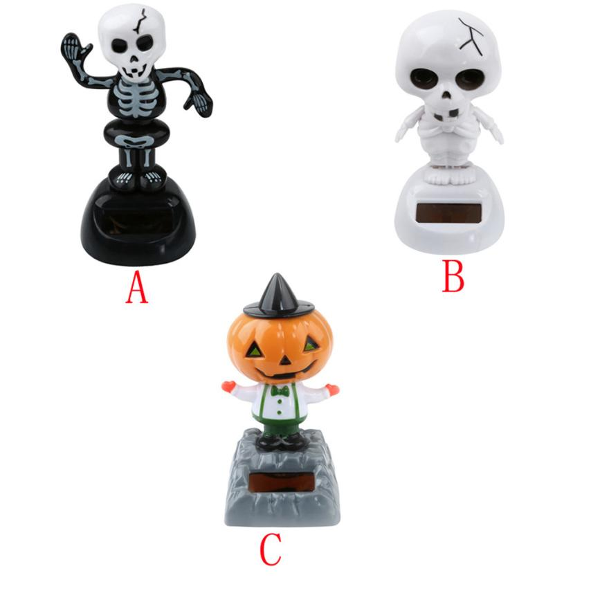 2018 Hot selling New 10*6cm Cute Solar Powered Dancing Halloween Swinging Animated Bobble Dancer Toy Car Decor Car styling