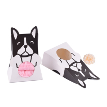 1pcs Colorful Cute Cat Dog Pets Gift Box Candy Folding Paper Packaging Box Wedding Candy Boxs Dessert kawai Baking Package Bags