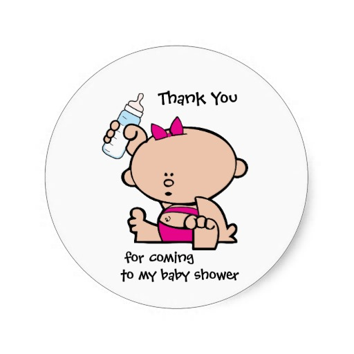 38cm Thank You Girl Baby Shower Gift Tag Sticker In Stickers From