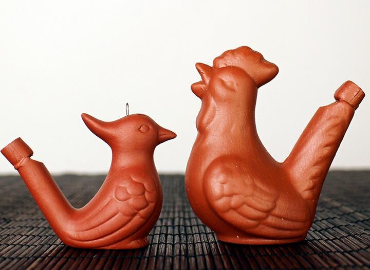 200pcs Wholesale Dropship New Arrival Water Bird Whistle Clay Bird Ceramic Glazed Bird Whistle-peacock Birds Bird Toys