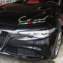 Adesivo de sobrancelhas reflexivas para alfa romeo, adesivos de carro para lâmpada alfa romeo 2018 147 156 estilo do carro
