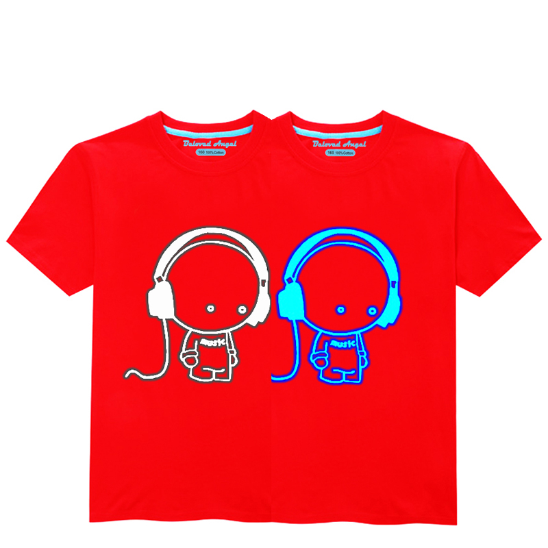HTB1VTd6R4jaK1RjSZFAq6zdLFXaA - Luminous Short Sleeves T-Shirt For Boys T Shirt Spiderman Christmas Teen Girls Tops Size 3-15 years Teenage Toddler Boy Tshirts