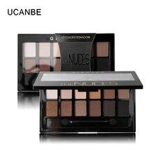 Ucanbe 12 цветов pro nude земли naked макияж палитра теней с кисточкой дымчатый тени для век shimmer матовая минеральная водонепроницаемый комплекты(China (Mainland))