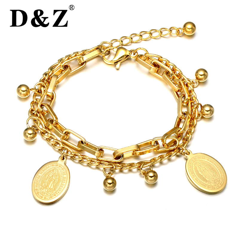 Religious Charm Bracelet: Aliexpress.com : Buy D&Z Religious Gold Color Beads Virgin
