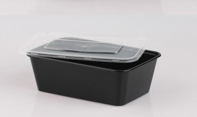 Microwavable Food Container With Lid Bento Box Black Set Of 12pcs