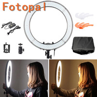 Foropal E240 5600K Dimmable Stepless Adjustable 18 LED Ring Light LED Photo Video Portrait photography Light For DSLR Camera