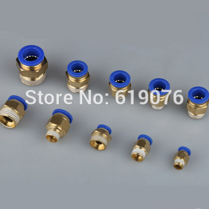 HIGH QUALITY  PC6-02  2pcs 6mm to 1/4 Pneumatic Connectors male straight one-touch PC6-02 aeg 4er set ersatzrollen phe