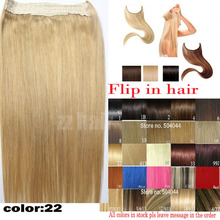#22 200g 180g 160g 140g Thick Full Head 1 piece full head set  Brazilian remy human hair extensions Flip In Human Hair Extension