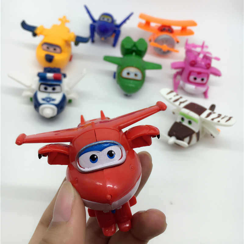 12 styles Super Wings Mini Planes Deformation Airplane Robot Action Figures Transformation Toys action toy figures Super Wings