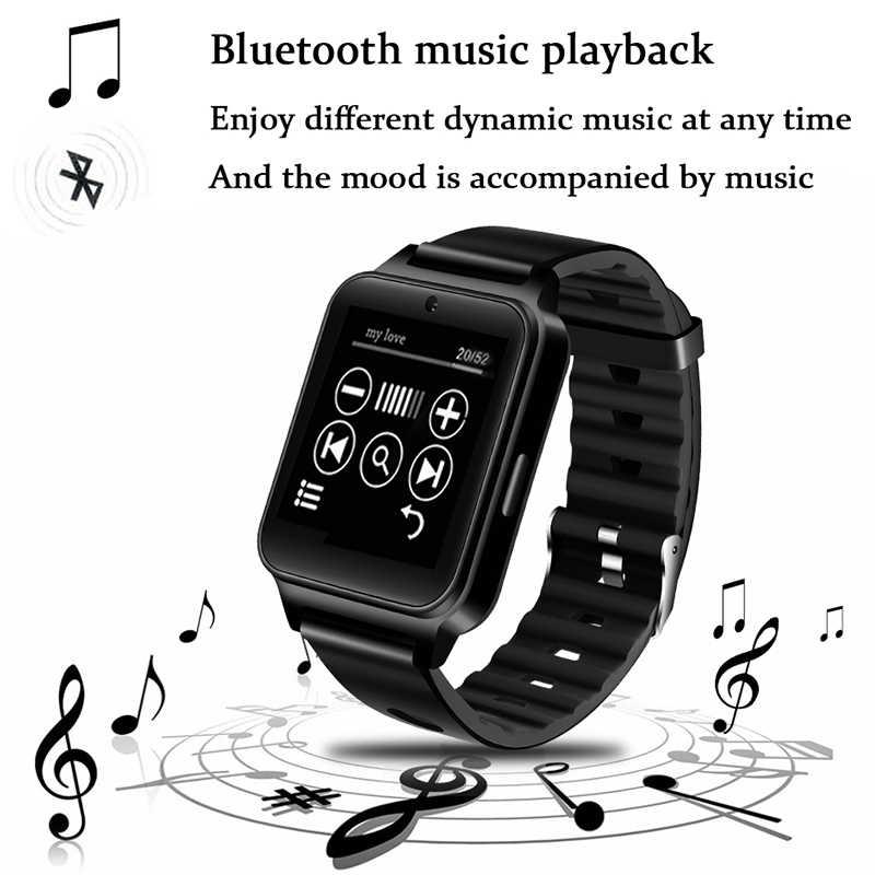 WISHDOIT deporte reloj inteligente hombres admite tarjeta SIM TF MP4 reproductor de vídeo Bluetooth Conexión de reloj reproductor de música Fitness Smartwatch