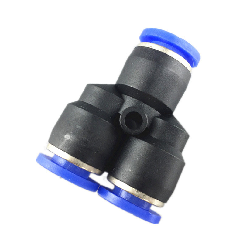 10PCS Pneumatic fitting connector Y type 3-way tee quick push in joint PY-6 PY-4 PY-8 PY-10 PY-12 10pcs t type pneumatic connector tee union push in fitting for air pipe joint 4mm 12mm
