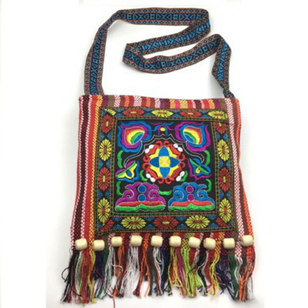 Women Shoulder Bags  Hot Sale Top Quality Embroidery Bohemia Hippie Tassel Tote Vintage Ethnic Messenger Bags For Lady