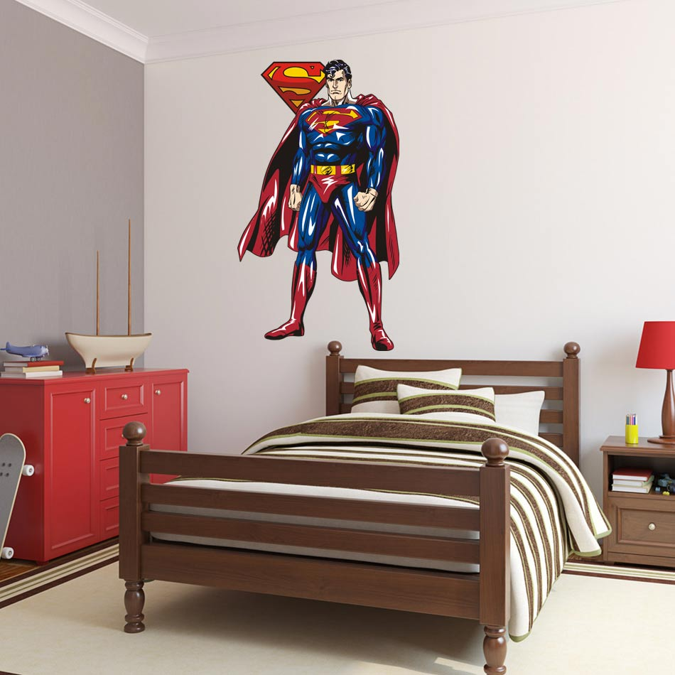 Aliexpress buy 2017 superman wall sticker decor decal vinyl aliexpress buy 2017 superman wall sticker decor decal vinyl room art comics decals 3d superhero wall stickers for kids room home cartoon art from amipublicfo Images
