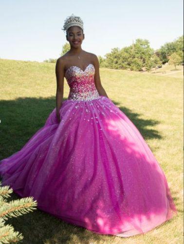 Cristal vestido Quinceanera rosa 2017 vestidos quinceanera vestidos de 15 anos quinceanera vestidos doce 16 vestidos barato