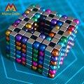 216 pcs 5mm Antistres Bolas Magnéticas Cubos Esfera Ímã De Neodímio Puzzle Brinquedos Para Adultos Contas de Esferas Cubo Mágico Brinquedos Com Caixa de Metal