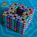 216pcs 5mm Antistres Magnetic Balls Cubes Sphere Neodymium Magnet Puzzle Adult Toys Spheres Beads Magic Cube Toys With Metal Box