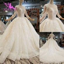 AIJINGYU Abiti Da Sposa Stili di Raso Abiti Puffy Pizzo Pechino Vietnam Abito Giappone Abito Da Sposa Floreale