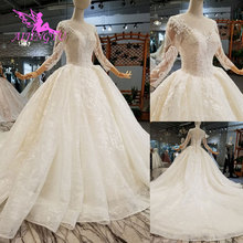 AIJINGYU Wedding Dresses Styles Satin Gowns Puffy Lace Beijing Vietnam Gown Japan Wedding Dress Floral