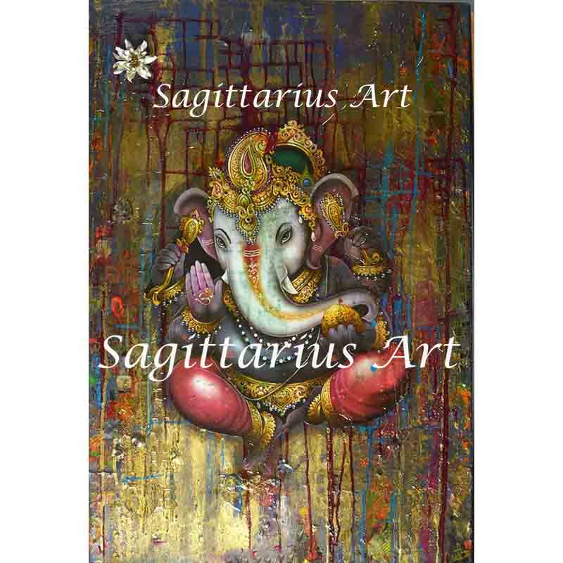 Hand painted Anima ganesha paintings oil paint painting ...