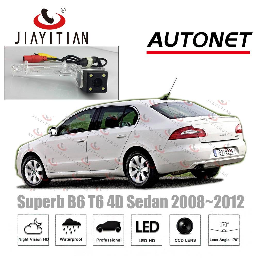 JIAYITIAN Rear View Camera For Skoda Superb 2 Sedan 2008 2009 2010 2011 2012 CCD Night Vision Backup Camera License Plate Camera