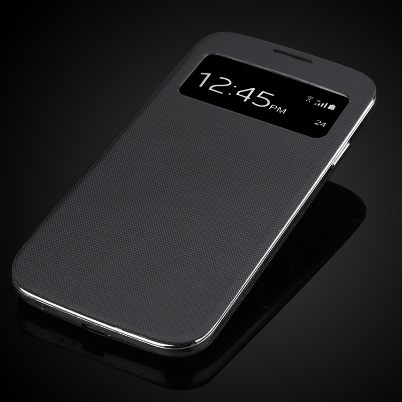 For Samsung Galaxy <font><b>S4</b></font> SIV I9500 <font><b>Battery</b></font> Housing <font><b>Cover</b></font> New Dormancy Function Touch Screen Window Case Flip Case