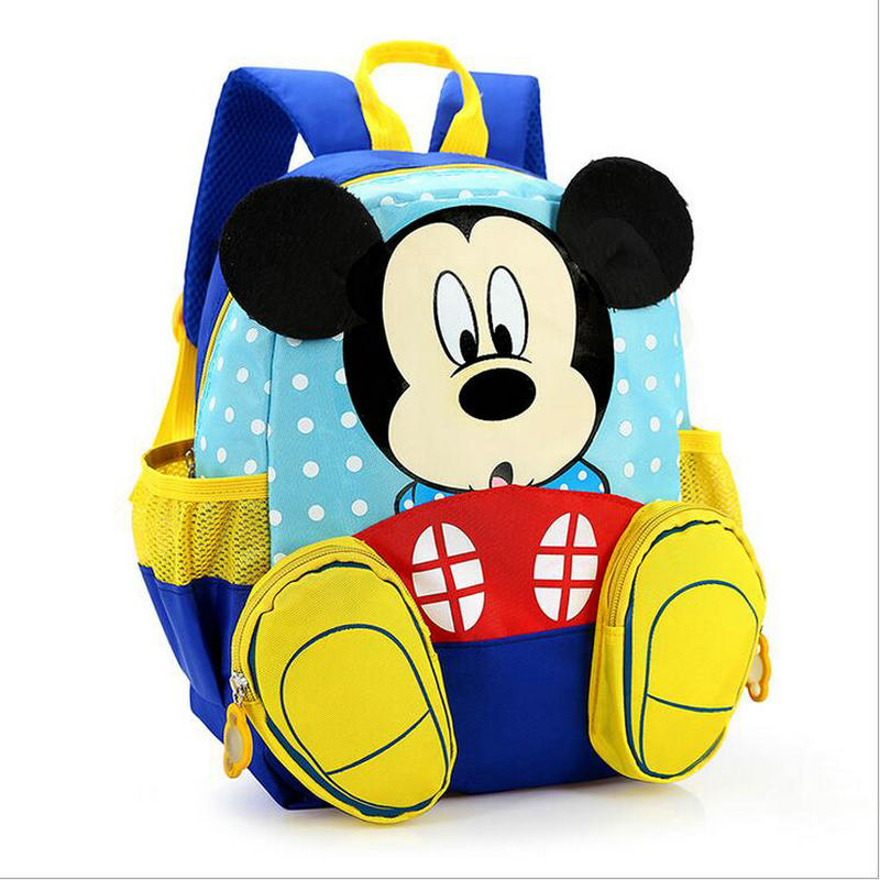 Cute Cartoon Kids Mickey Minnie School Bag Children Pink Bag Kindergarten Backpack kid School Bags Blue Satchel For Boys Girls ...
