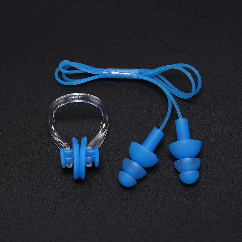 6 צבעים רך סיליקון בריכת סט עמיד למים האף קליפ + אוזן Plug Earplug שימושי