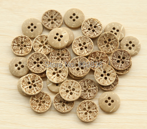 Natural coconut buttons 13mm Garment Sewing (50pcs/lot) 4