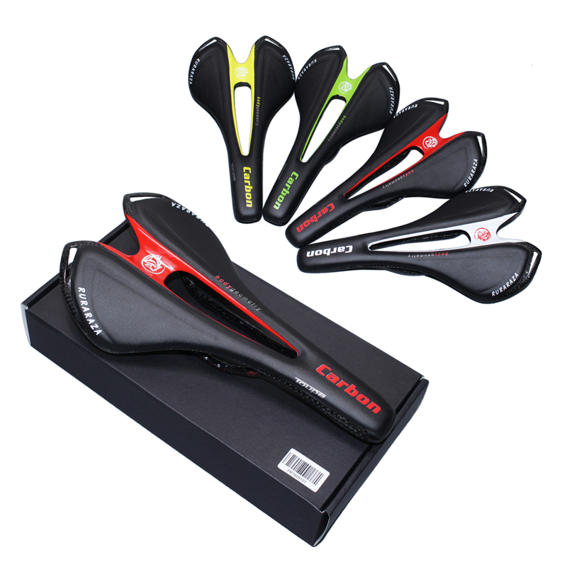 PURA RAZA FULL CARBON FIBER road bike Saddles carbon fibre bicycle seat carbon mtb cycling BIKE saddle leather