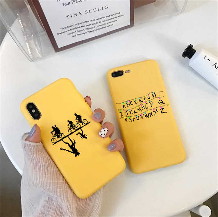 Stranger Things Art Sticker phone Case For iPhone X 7 Plus XS 10 Case Silicone Phone Cover For iPhone 6S 8 6 Plus XS Max Case