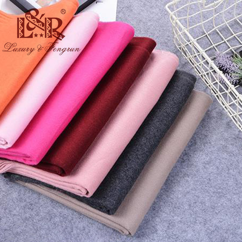 2020 Winter Cashmere Women Scarf Female Luxury Brand Scarves Lady Tassel Bandana Women Solid Shawl Wraps Foulard Tippet Pashmina|Women