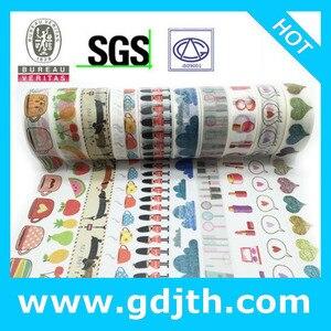 Image 2 - 2298 Patronen diy Masking tape set 30 stks/partij Bloemenprint Deco DIY Sticker/Lijm Japanse tape jiataihe Washi Tape groothandel