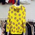 Осень одежда GOT7 Новый Женщины kpop EXO пончик письма Повседневная Шею Печатных Толстовка Балахон экзо кай слой bts