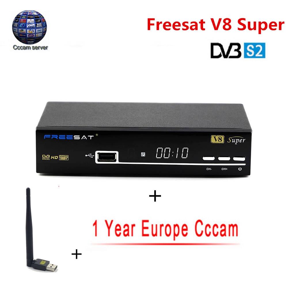 US $51 88 |V8 Super NOVA 1 Year Europe Cccam Server HD Freesat DVB S2  Satellite Receiver Full 1080P Italy Spain Arabic Cccam Cline USB Wifi-in