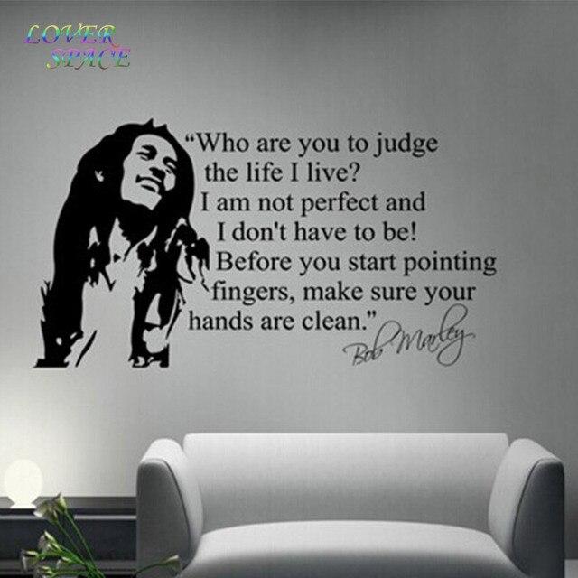 Adesivi Murali Bob Marley.Commercio All Ingrosso Bob Marley Citazioni Wall Sticker Stickers