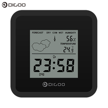Digoo DG-FC25 Mini Almighty Weather Station Hygrometer Thermometer Forecast Sens Alarm Clock