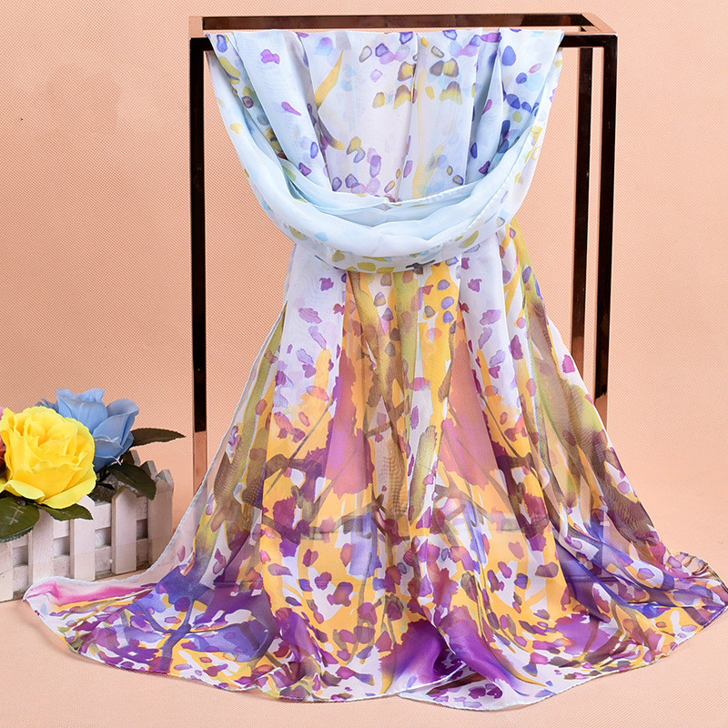 2017 New Print Chiffon Scarves Women Muslim Hijab Spring And Autumn Georgette Women's Scarf Chiffon Silk scarfs from india