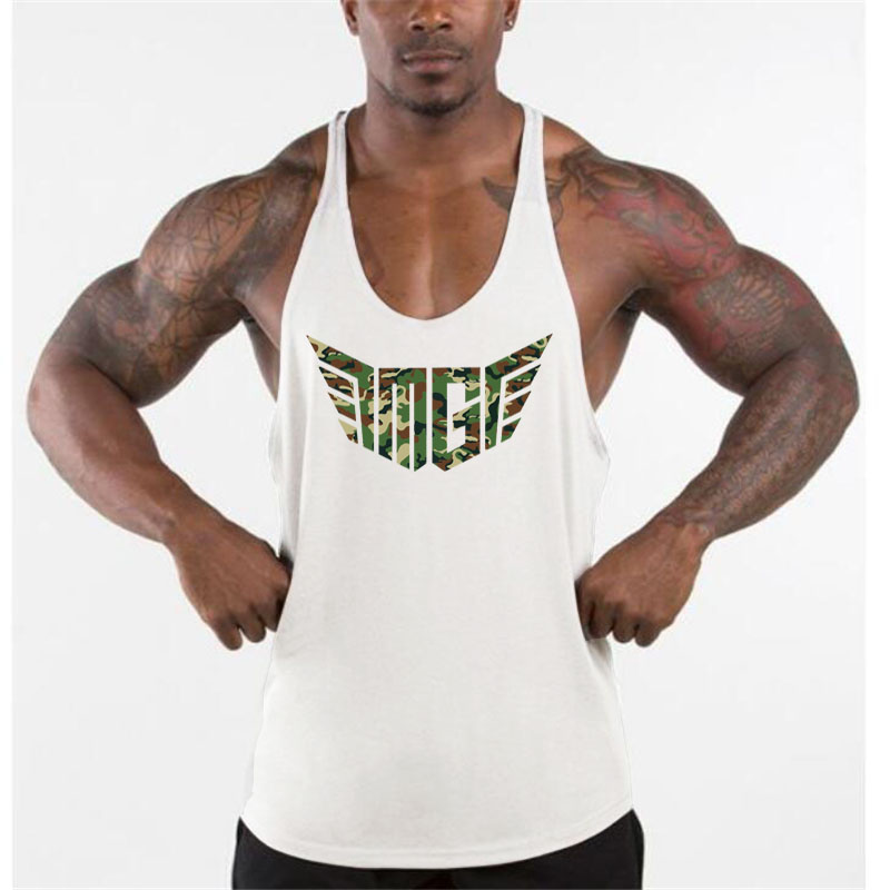 Muscleguys Brand Camouflage Wings Gyms Tank Top Men Bodybuilding Stringer Singlet Fitness Clothing Sleeveless Shirt Y Back Vest