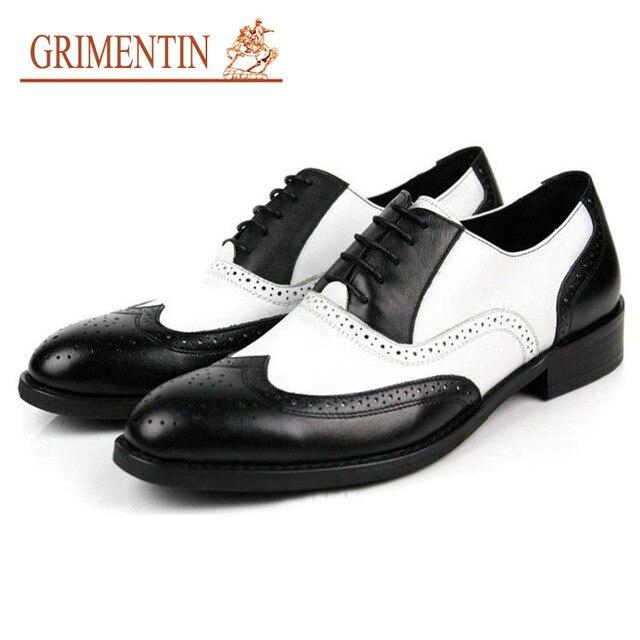 Zapatos negros y blancos para hombre 90b6a1bd8b78d