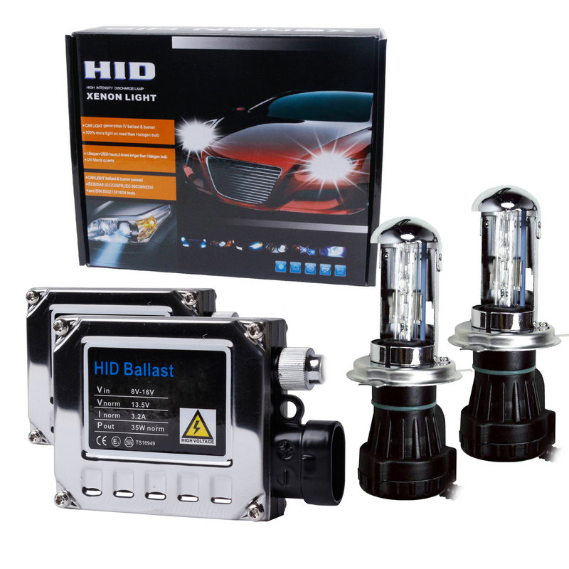 12V 35W H4 Bi <font><b>xenon</b></font> <font><b>lamp</b></font> kit H4 hid hi low BI-<font><b>Xenon</b></font> light haedlight 35W 6000K 8000K 4300K <font><b>H1</b></font> H3 H7 H11 9005 HB4 bulb kit image